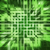 Green urbanism luminous background Stock Photos