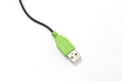 Green usb cable Royalty Free Stock Photos