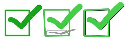 Green V check marks Royalty Free Stock Photos