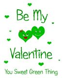 Green valentine Royalty Free Stock Images