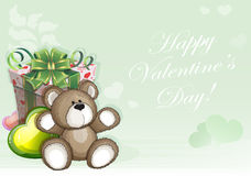 Green Valentines Day background Stock Photography