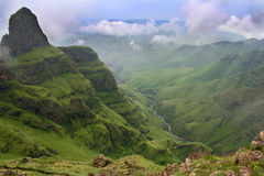 Green Valley. Green vally in the Drakensberg south africa Stock Photos