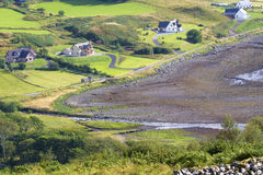 Green valley. In skye island Royalty Free Stock Images