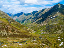 Green valley in austrian Alps Stock Images