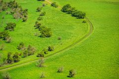 Green Valley Country Road Royalty Free Stock Photography