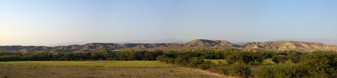 Green valley desert hills stock image