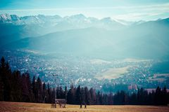 Green valley in the high Tatra mountains in Zakopane, Poland. Stock Photos