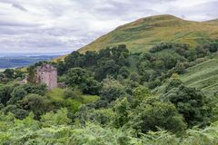 Green Valley and hills around castle Campbell Stock Photography