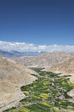 Green valley in Himalayas aerial view Stock Photography