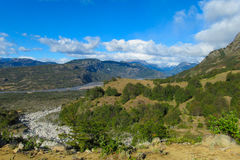 Green valley mountain landscape Royalty Free Stock Photo