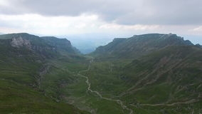 Green valley between mountains, aerial view. Hd video stock video footage