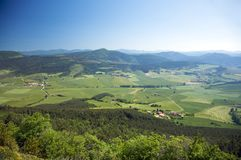 Green valley next to pamplona Stock Image