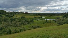 A green valley it north russia.  Royalty Free Stock Photography