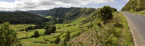 Green Valley Panorama Royalty Free Stock Photo