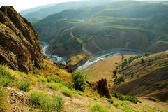 Green valley with a river, Turkey Royalty Free Stock Images