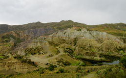 Green valley and rock formations near La Paz in Bolivia Royalty Free Stock Photos