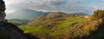 Green valley of Sicily. Royalty Free Stock Photography