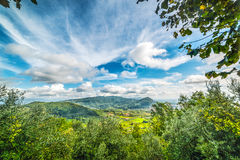 Green valley in Tuscany Royalty Free Stock Photo