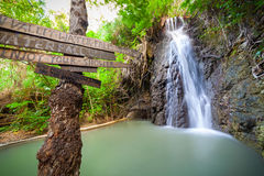 Green Valley waterfalls in Cyprus. Stock Image