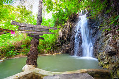 Green Valley waterfalls in Cyprus. Royalty Free Stock Photos