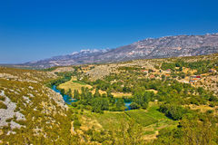 Green valley of Zrmanja river Stock Photography