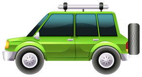 A green van Royalty Free Stock Photo