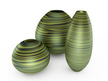 Green vase. 3D illustration Stock Image
