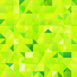 Green vector abstract triangles seamless pattern Stock Photos