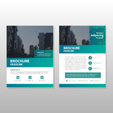 Green Vector annual report Leaflet Brochure Flyer template design. Book cover layout design, abstract business presentation template, a4 size design royalty free illustration