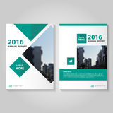 Green Vector annual report Leaflet Brochure Flyer template design, book cover layout design, Abstract blue presentation templates. Green Square Vector annual stock illustration