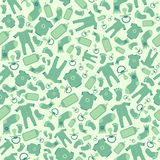 Green vector baby seamless pattern Stock Photography