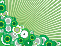 Green vector background. Vector illustration of beautiful green background Royalty Free Stock Images