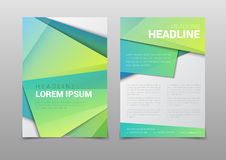 Green vector background company headline report template mockup Stock Images