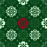 Rustic folk pattern. Green vector background with rustic folk pattern Royalty Free Stock Photo