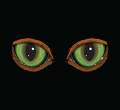 Green vector cat eyes. With orange fur Royalty Free Stock Photo