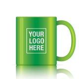 Green vector coffee mug Stock Image
