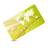 Green Vector Credit Card Illustration Stock Photo