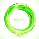 Green vector crystal ring frame Stock Photos