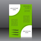 Green vector design of the flyer with place for picture Royalty Free Stock Images