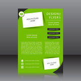 Green vector design of the flyer with place for picture Royalty Free Stock Photography