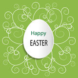 Green vector Easter background Stock Photography
