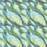 Green Vector Feather Pattern Stock Photos