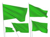 Green vector flags Stock Photo
