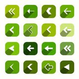 Green Vector Flat Design Arrows Set Royalty Free Stock Image