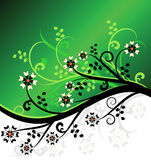 Green vector floral design. Abstract green vector floral design background Royalty Free Illustration
