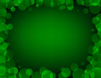 Green Vector Frame. Abstract background with blending circles Royalty Free Stock Photo