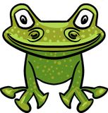 Green vector frog drawing. Vector image of an green Cartoon Frog smiling vector illustration
