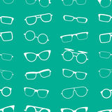 Green vector glasses, sunglasses seamless pattern Stock Photography
