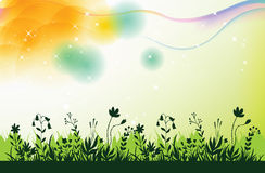 Green vector grass background Stock Photo