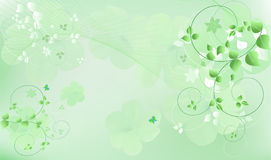 Green vector illustration Stock Image